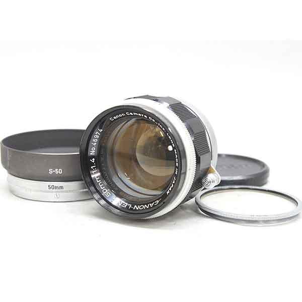 キヤノン 50mm F1.4 レンズ