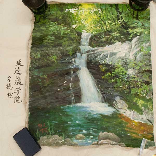 北朝鮮油彩画