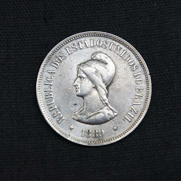 1889年 1000レイス 銀貨