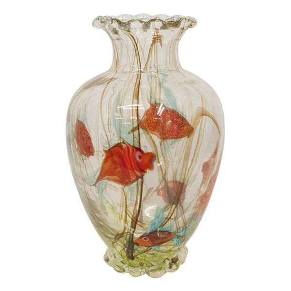 ヴェネチアングラス 花瓶 ラグーナ・ムラノガラス 1952年製