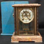 山崎商店 ダイヤ印高級四方硝子置き時計
