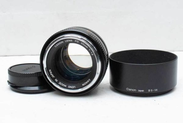 CANON レンズ LENS FD 55mm 1:1.2