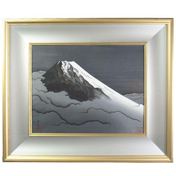 横山大観 「墨絵富士」 工芸画
