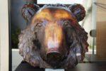 中井作 木彫りの熊 木像 彫像 オブジェ お面 壁掛け