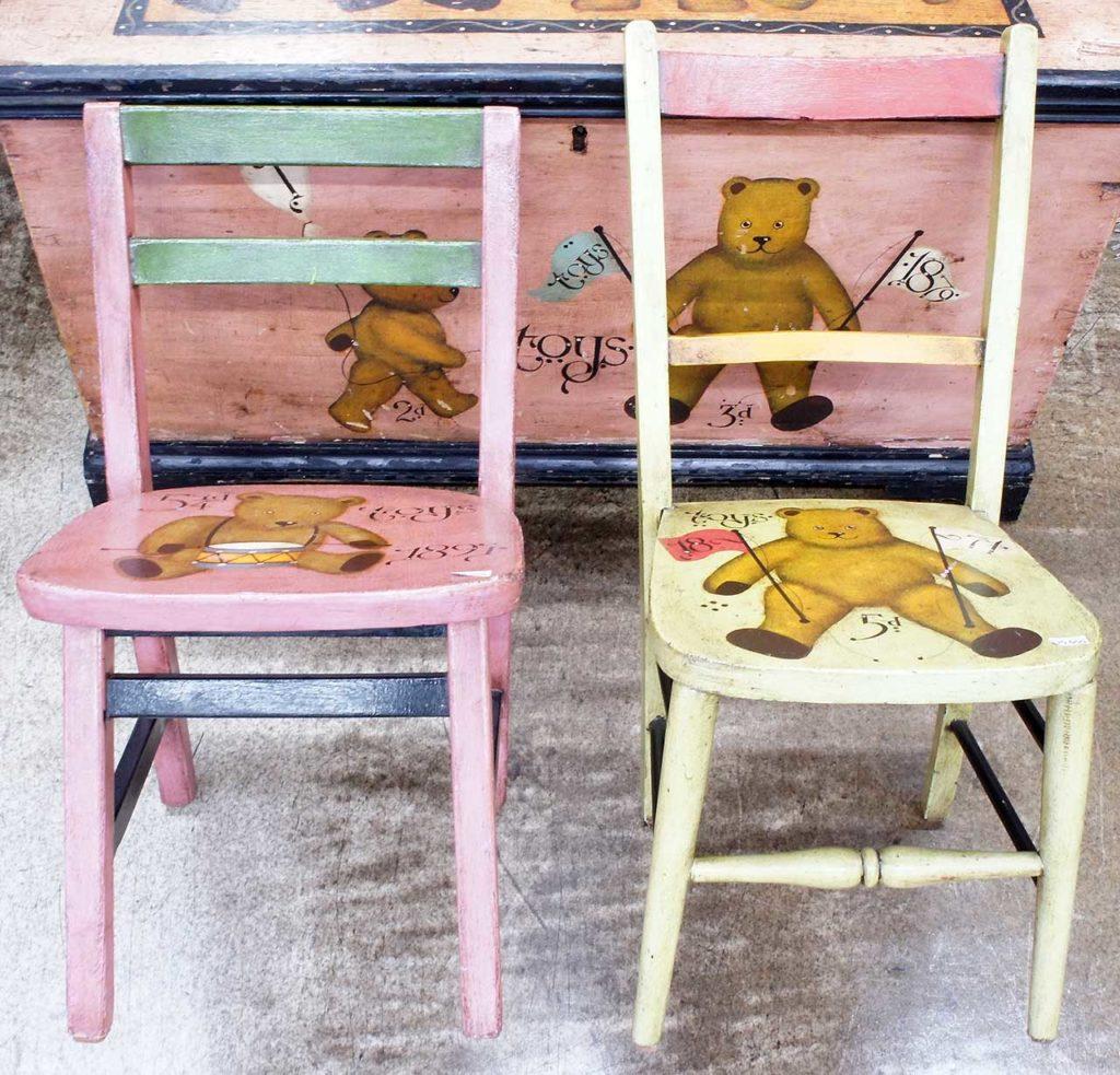 熊 ベアー アンティークチェア 椅子 子供用
