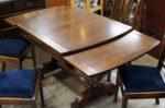 英国製オーク材 アンティーク ドローリーフテーブル+チェア4脚 セット