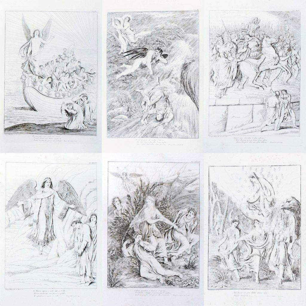 ダンテ-神曲-フィレンツェ-アンコラ本-1817-1819年-4巻揃い [3]