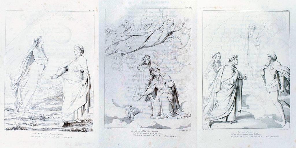ダンテ-神曲-フィレンツェ-アンコラ本-1817-1819年-4巻揃い [4]