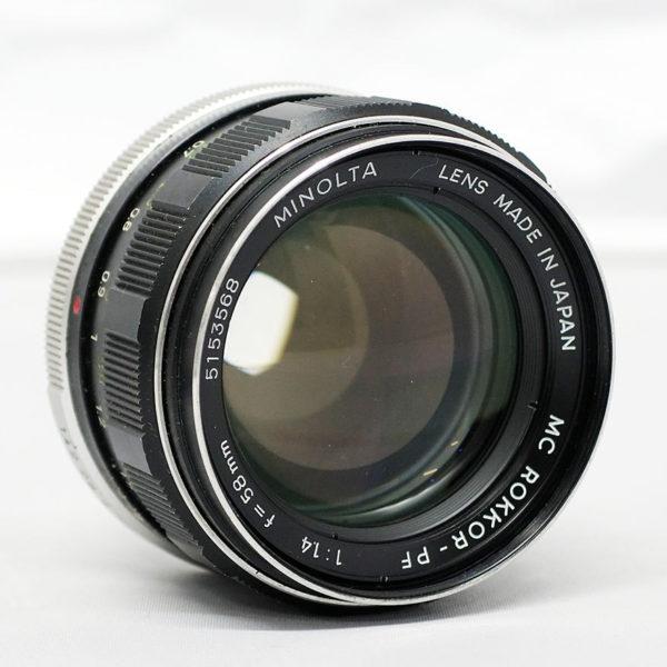 ミノルタ MC ROKKOR-PF 58mm F1.4