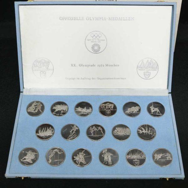 ミュンヘンオリンピック銀製メダル