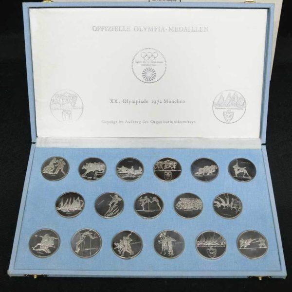 ミュンヘンオリンピック大会 1972年 公式記念純銀メダル